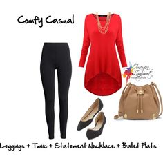 comfy casual leggings and tunic by imogenl on Polyvore featuring H&M, Vince Camuto and Forever 21