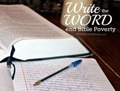 Write the Word and help end Bible Poverty