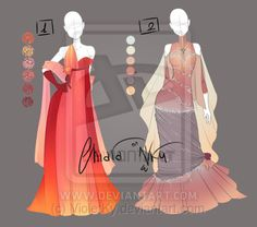 :: Adoptable Outfits 1: AUCTION CLOSED :: by VioletKy.deviantart.com on @DeviantArt