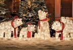 Statuettes déco LED pour mieux décorer l'extérieur de la maison à l'effigie de Noël