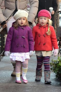 Sarah Jessica Parker's twins - the most stylish little girls ever!! I especially love the outfit on the left.