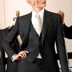 3 Piece Women Ladies Business Office Tuxedos Fashion New Work Wear Suits Bespoke #Unbranded #Suits