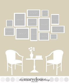 Wall Display Template 15-Pack by WhatMarvelousThings on Etsy