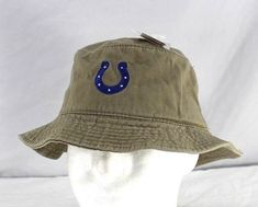 NFL Indianapolis Colts Khaki Bucket Hat Adult L XL 6b76085de