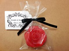 40 Custom Rose Soap Favors  Choose Color by SimpleHomeAccents
