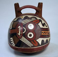Double Spout and Bridge Bottle with Face Date: 1st–4th century Nazca Collection | The Metropolitan Museum of Art