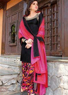 Pink Tussar Silk Punjabi Suit <3.<3
