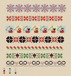 Border patterns - Maud Stitch, etsy