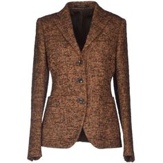 Tagliatore 02-05  Blazer ($200) ❤ liked on Polyvore featuring outerwear, jackets, blazers, coats & jackets, tops, brown, tagliatore, multi pocket jacket, brown blazer and long sleeve blazer