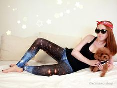 GALAXY SPACE UNIVERSAL Leggings Yoga Leggings/Sport by KOMAWO
