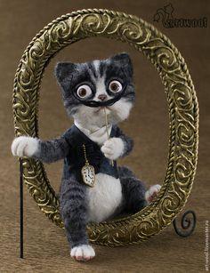 "Needle Felted Cat ""Salvador Dali"" by Natalia Kuznetsova of Moscow, Russia"