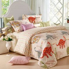 Dinosaur Homes Pink Dinosaur Bedding Set Wow Colorful Mart Dinosaur Bedroom Girls Rooms Pinterest Home White Walls And Dinosaurs