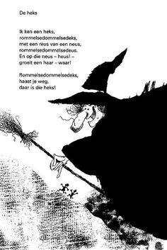 * Versje: De heks! Theme Halloween, Halloween Quilts, Holidays Halloween, Halloween Craft Activities, Craft Activities For Kids, Halloween Crafts, Fairy Tale Crafts, Black And White Cartoon, Wicked Witch