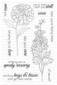 Clearly Besotted TAKE GOOD CARE Clear Stamp Set