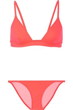 Solid and Striped counts Gigi Hadid and Alessandra Ambrosio as fans of its swimwear. Updated in coral for the new season, this 'Morgan' bikini is made from Italian stretch fabric that sculpts without the need for padding or underwire. The low-rise briefs are hardware-free for a sleek and smooth fit.