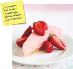 Mansikka-jogurttikakku - Makeat leivonnaiset - Reseptit - Helsingin Sanomat