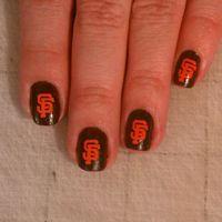 San Francisco Giants Nails | san francisco giants nail art | Sf ...