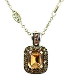 c2e1f068e6e1 Mariana Silver Plated Jackie Rectangle Swarovski Crystal Pendant Necklace  144     Read more reviews of the product by visiting the link on the image.