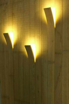Curved plank lighting. Cool.