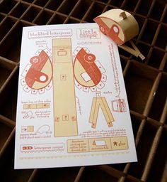 Artist in LA LA Land Illustration & Design: Paper Toys & Paper Play Vintage Station Wagon & Camper Trailer