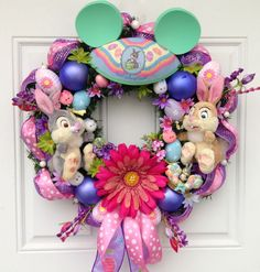 Disney Easter Wreath Thumper and Miss Bunny