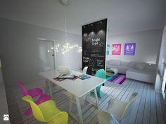 Zdjęcie: Salon styl Nowoczesny - biel i kolor