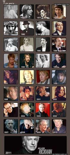 The History of Alan... ♥  The man is like a FINE WINE...