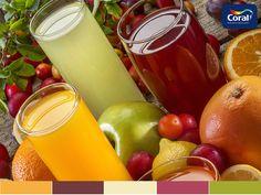 Nomes das cores: Doce de Laranja / Vinho Clássico / Limão Pálido / Festa da Cereja / Limão Galego