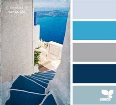greek colour pallette for my kitchen someday!!