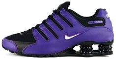Nike Shox NZ Black Purple Silver Grey Women sz