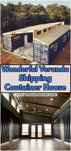 Wonderful Veranda Shipping Container House – USA We continue to discover for you. Our container house on today's tour is from USA. Shipping Container Home Designs, Shipping Container House Plans, Container House Design, Tiny House Design, Shipping Containers, Container Home Plans, Building A Container Home, Container Buildings, Container Houses