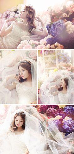 Elegant floral concept // Korean wedding photography // Bong Studio
