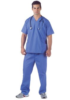 Looking to do a medical examination on someone special? This plus size doctor scrubs costume might not come with a Ph.D. but it still makes you look like a surgeon.