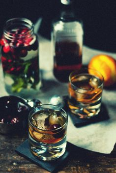 Old Fashioned with Brandied Cherries