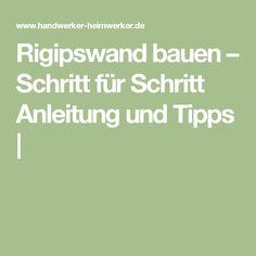 Great Rigipswand Bauen U2013 Schritt Für Schritt Anleitung Und Tipps |