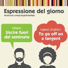 Italian / English idiom: to go off on a tangent - uscire fuori dal seminato - abschweifen