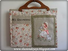 Of A Little Bit: TUTORIAL: PORTADOCUMENTS WITH SUNBONNET SUE