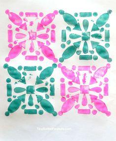 MAKE ART PRINTS WITH FOAM SHAPES (via http://tinyrottenpeanuts.com/printmaking-foam-stickers/)