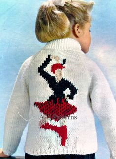 This is super cute - any of my knitting friends want to knit one for my girls?  =)   PDF Knitting Pattern for a Scottish Dancer Highland Games Chunky Knit Sweater for Children.. £2.50, via Etsy.