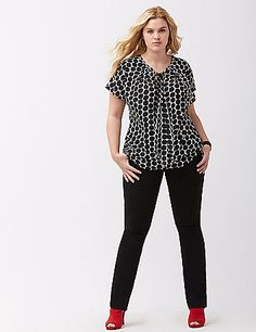 Sleek & modern Sexy Stretch fabric streamlines our curve-loving Lena bootcut pant. Ideal for work to weekend outfitting, this versatile pant offers the perfect bit of stretch to flatter and flares below the knee to balance a moderately-curvy silhouette. Four pocket style with button & zip fly closure and belt loops. lanebryant.com