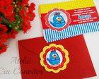 Convite Galinha Pintadinha com envelope