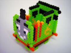 3D Percy the Small Engine perler beads - Pattern: https://www.pinterest.com/pin/374291419010911925/