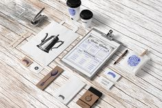 Coffee Stationery Mock-Up on Pantone Canvas Gallery