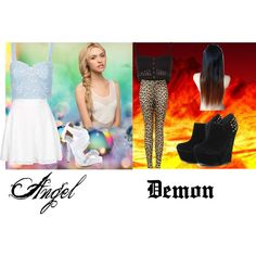 """""""Angels vs Demons"""" by chellebritton on Polyvore Vs Angels, Angels And Demons, Ann, Polyvore, Stuff To Buy, Shopping, Collection, Design, Women"""