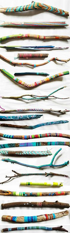 Painted sticks // Molly Anne