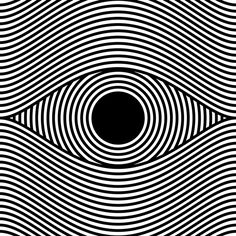 eye op art, optical art by sergi delgado Más Illusion Kunst, Illusion Art, Image 3d, Art Simple, Realistic Eye Drawing, Kinetic Art, Art Plastique, Geometric Art, Optical Illusions