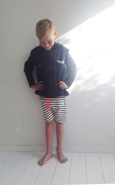 Striped shorts and soft hoodie by yellow Bird. Sommer 2013 børne mode