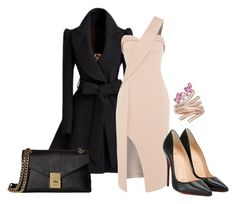 """""""191"""" by vicinogiovanna ❤ liked on Polyvore featuring Keepsake the Label, Christian Louboutin, Calvin Klein and Hueb"""