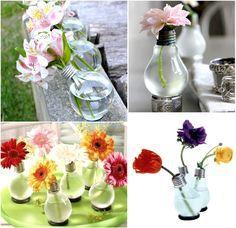 Puedes reciclar todo tipo de objetos. ¿Tienes bombillas y no sabes que hacer con ellas? Realiza proyectos para tu casa o jardín espectaculares.