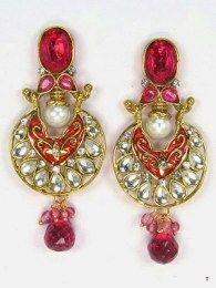 Huge Dangler Designed Earrings With Stones